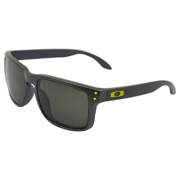 dd6e460b4f1ac Oakley OO9102-38 Steel Frame Holbrook Dark Grey Lens Men  x27 s Sunglasses