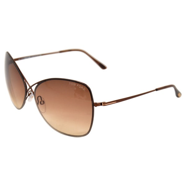 003db6c4fd Tom Ford TF250 Colette 48F Womens Shiny Dark Brown 63 mm Sunglasses - shiny  dark brown
