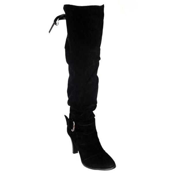 DimeCity Women's 'Mackay' Heels Over-Knee Boots. Opens flyout.