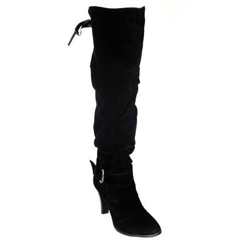 DimeCity Women's 'Mackay' Heels Over-Knee Boots