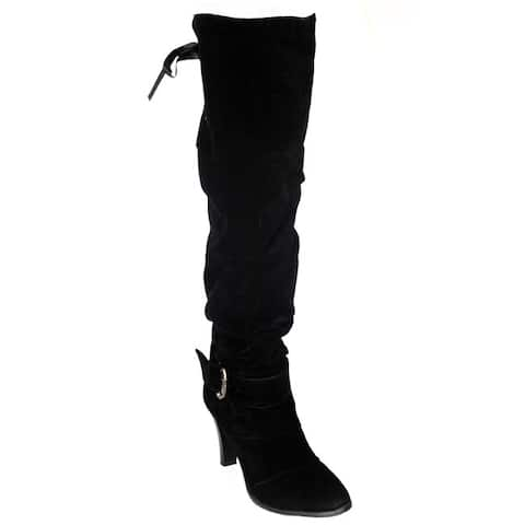 DimeCity Women's 'Mackay' Heels Over-Knee Boots