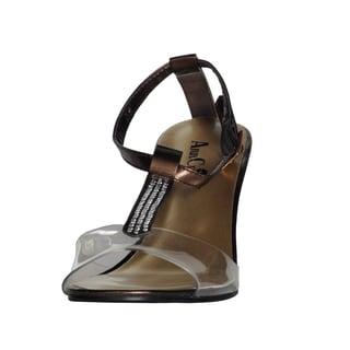 Ann Creek Women's Clear Heel Strap Heels