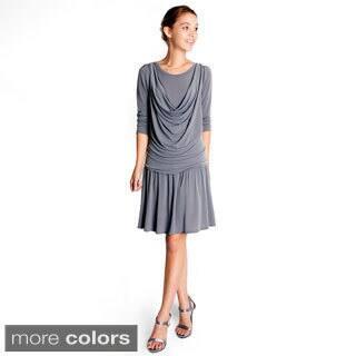 Evanese Women's Short Cowlneck Tank 2-piece Dress|https://ak1.ostkcdn.com/images/products/8462903/Evanese-Womens-Short-Cowlneck-Tank-2-piece-Dress-P15754662.jpg?impolicy=medium