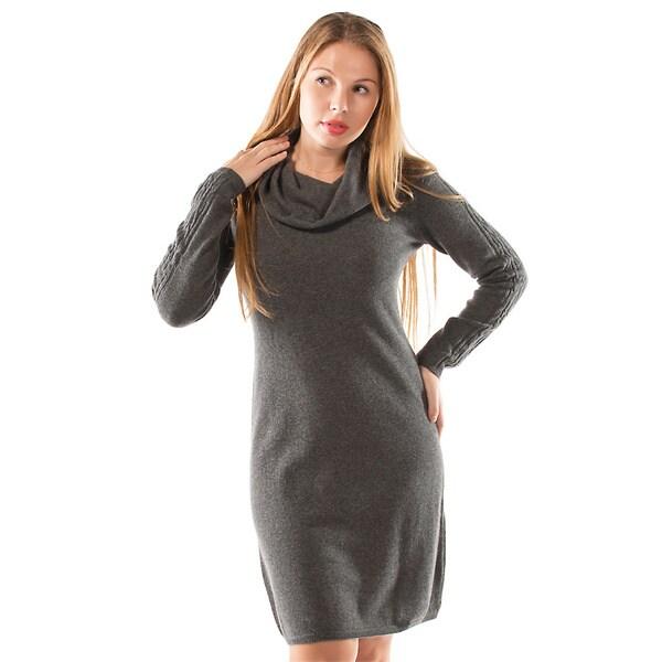 f2f7699d0cb Shop Italian Made Luigi Baldo Women s Italian Cashmere Sweater Dress ...