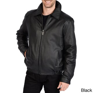 Excelled Men's Big and Tall Lamb Leather Bomber Jacket (More options available)