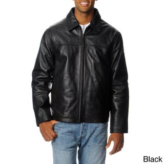 Excelled Men's Leather Rugged Open Bottom Jacket