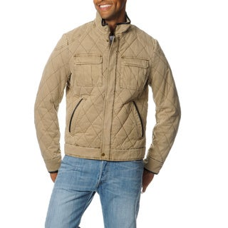 R & O Men's Peach Cotton Quilted Jacket