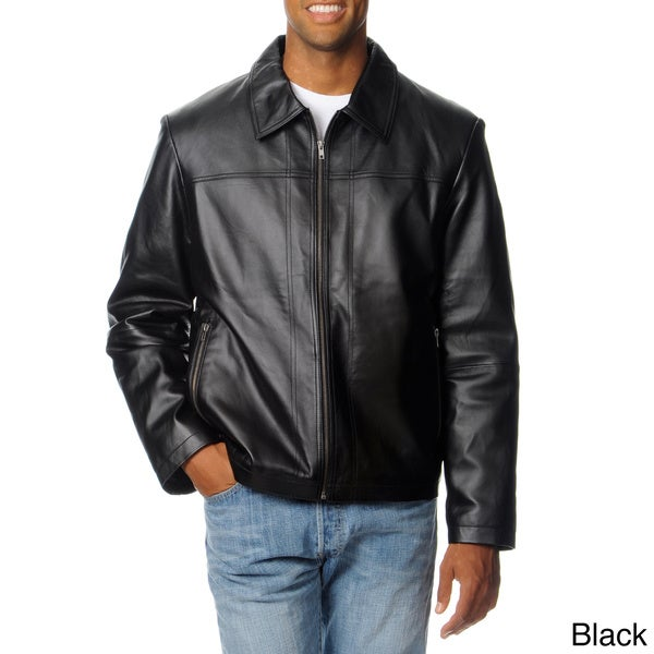 Leather jacket big and tall
