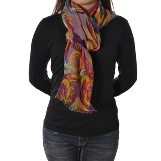 Colorful Feather Scarf
