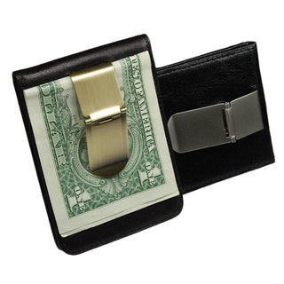 Castello Leather Money Clip (Option: Brown)
