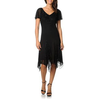 J Laxmi Women's Black Flutter Sleeve Beaded Cocktail Dress|https://ak1.ostkcdn.com/images/products/8462993/P15754751.jpg?impolicy=medium
