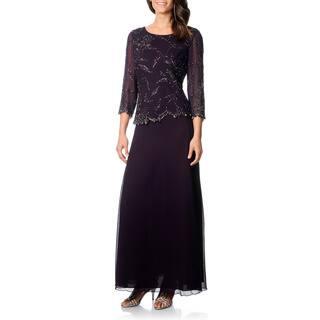 J Laxmi Women's Plum Shadow Mock 2-piece Formal Dress https://ak1.ostkcdn.com/images/products/8462997/P15754755.jpg?impolicy=medium