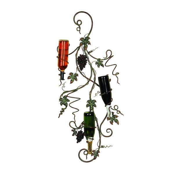 Grape Vine Metal Wall Wine Rack Free Shipping Today