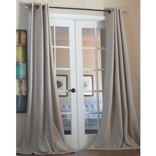 Lambrequin Anaya Linen Blend Solid Grommet 96-inch Panel