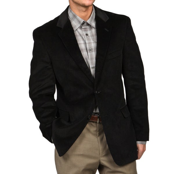 Adolfo Men's Black Corduroy Sport Coat - Free Shipping Today ...