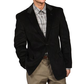 Adolfo Men's Black Corduroy Sport Coat