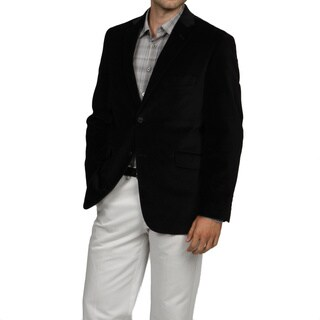 Adolfo Men's Black 2-button Velvet Sport Coat
