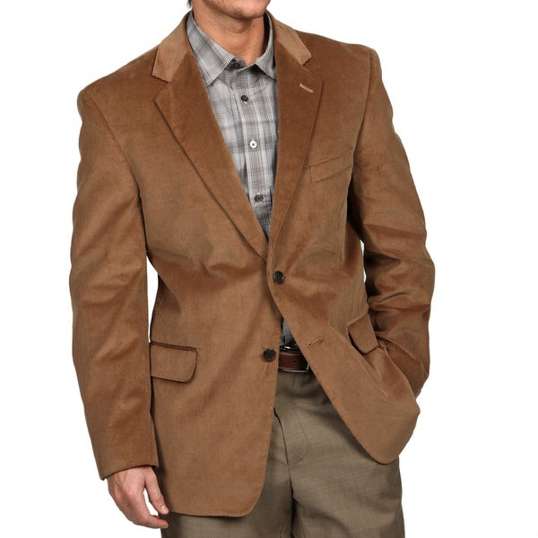 Adolfo Men's Tan Corduroy Sport Coat - Free Shipping On Orders ...