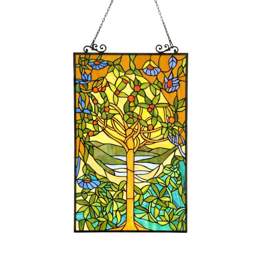 889cdae76 Shop Chloe Tiffany-style 'Tree of Life' Stained Glass Window Panel - On  Sale - Free Shipping Today - Overstock - 8463137