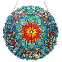 Chloe Tiffany Style Round Window Panel