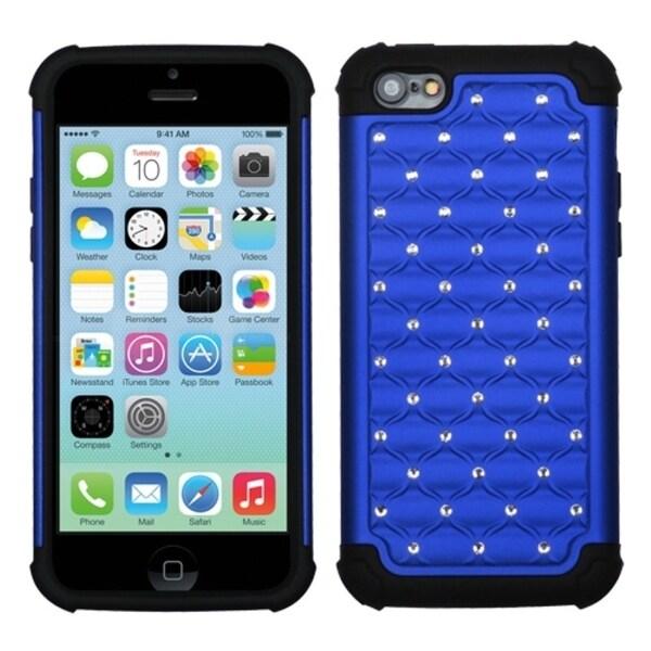 INSTEN Dark Blue/ Black TotalDefense Phone Case Cover for Apple iPhone 5 / 5C / 5S / SE
