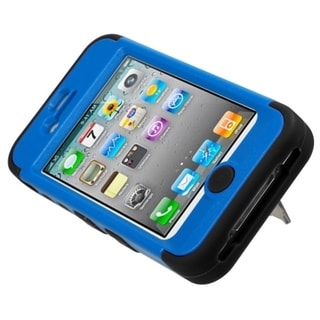 INSTEN Dark Blue/ Black TUFF Hybrid Phone Case Cover for Apple iPhone 4/ 4S