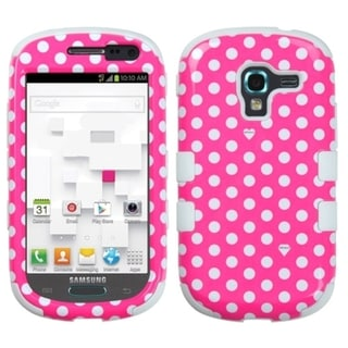 INSTEN Dots/ White TUFF Phone Case Cover for Samsung T599 Galaxy Exhibit