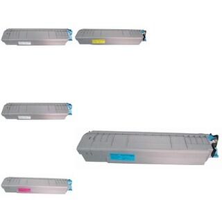Refilled Insten Premium 2BCMY Color Toner Cartridge 44059112/ 44059111/ 44059110/ 44059109 for Okidata C830