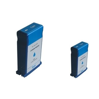INSTEN Cyan Ink Cartridge Set for Canon BCI-1431C (Pack of 2)
