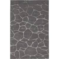 Florentine Belgian Grey/Silver Wool Area Rug - 6' x 9'