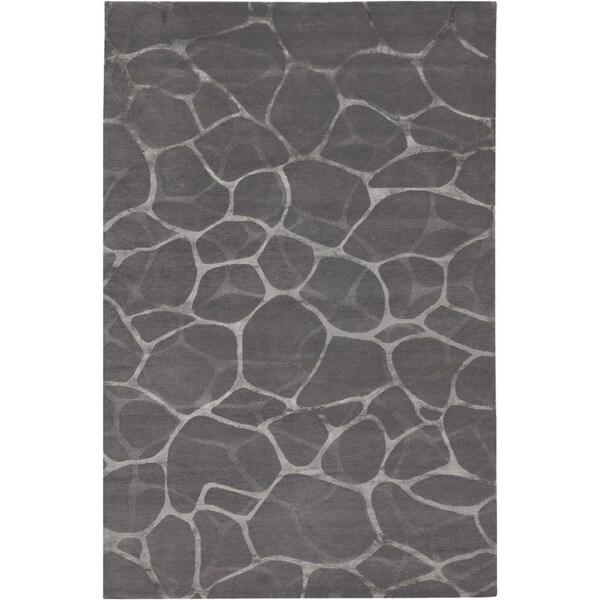Florentine Belgian Grey/Silver Wool Rug - 8' x 10'