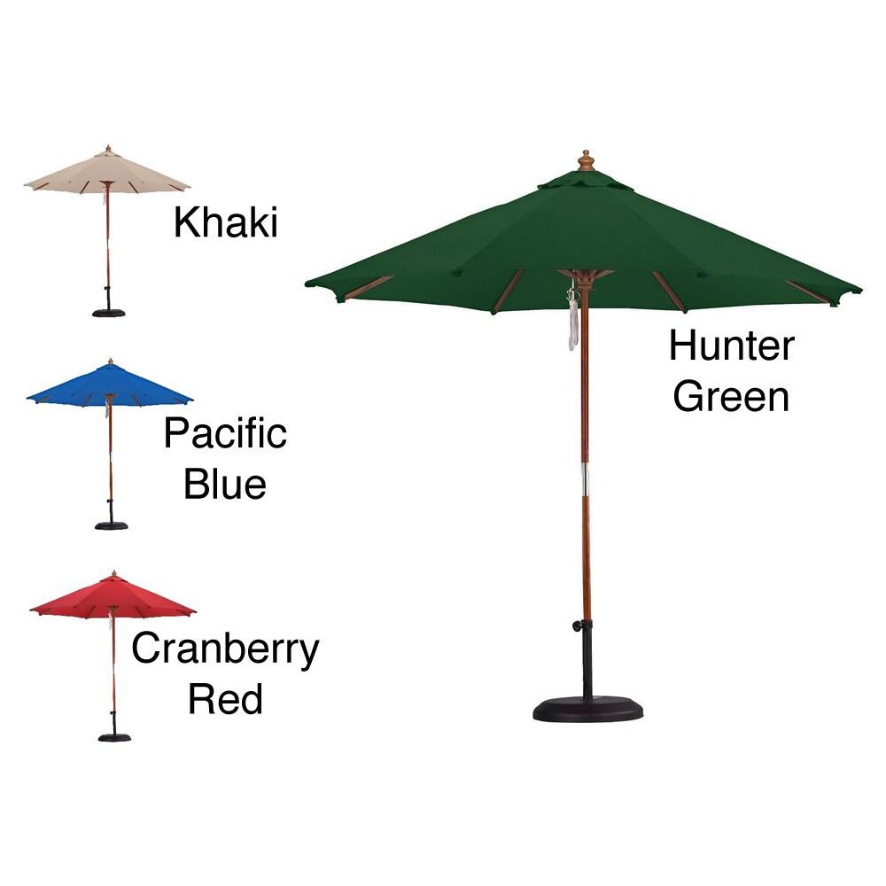 Escada Designs Premium Spun Poly 13-foot Market Umbrella and 50-pound Stand (Beige) thumbnail