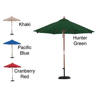 Premium Spun Poly 13 Foot Market Umbrella And 50 Pound Stand
