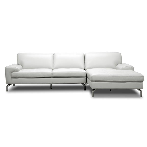 Sectional Sofa Grey Baxton Studio: Shop Baxton Studio Scofield Pale Grey Leather Modern