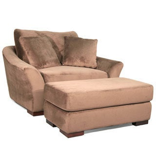 Fairmont Designs Made To Order Prague Chocolate Brown Chair and Ottoman Set