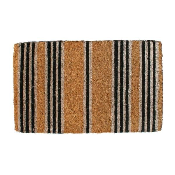 Shop Outdoor Coconut Fiber Black Stripes Door Mat 4 X 1