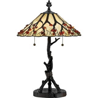 Etonnant Quoizel Whispering Wood Table Lamp