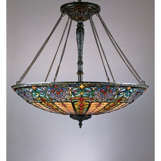 Quoizel Tiffany 8-light Vintage Bronze Pendant