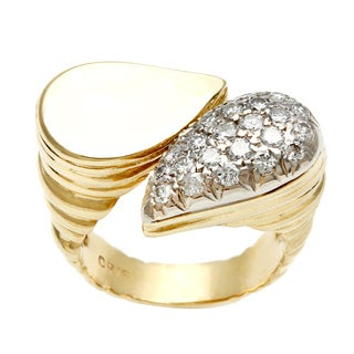 Pre-owned 18k Yellow Gold 3/4ct TDW Estate Cocktail Ring (G-H, VS1-VS2)