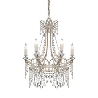 Quoizel Tricia 6-light Vintage Silver Chandelier