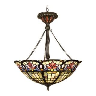 Quoizel Tiffany-style 3-light Vintage Bronze Pendant
