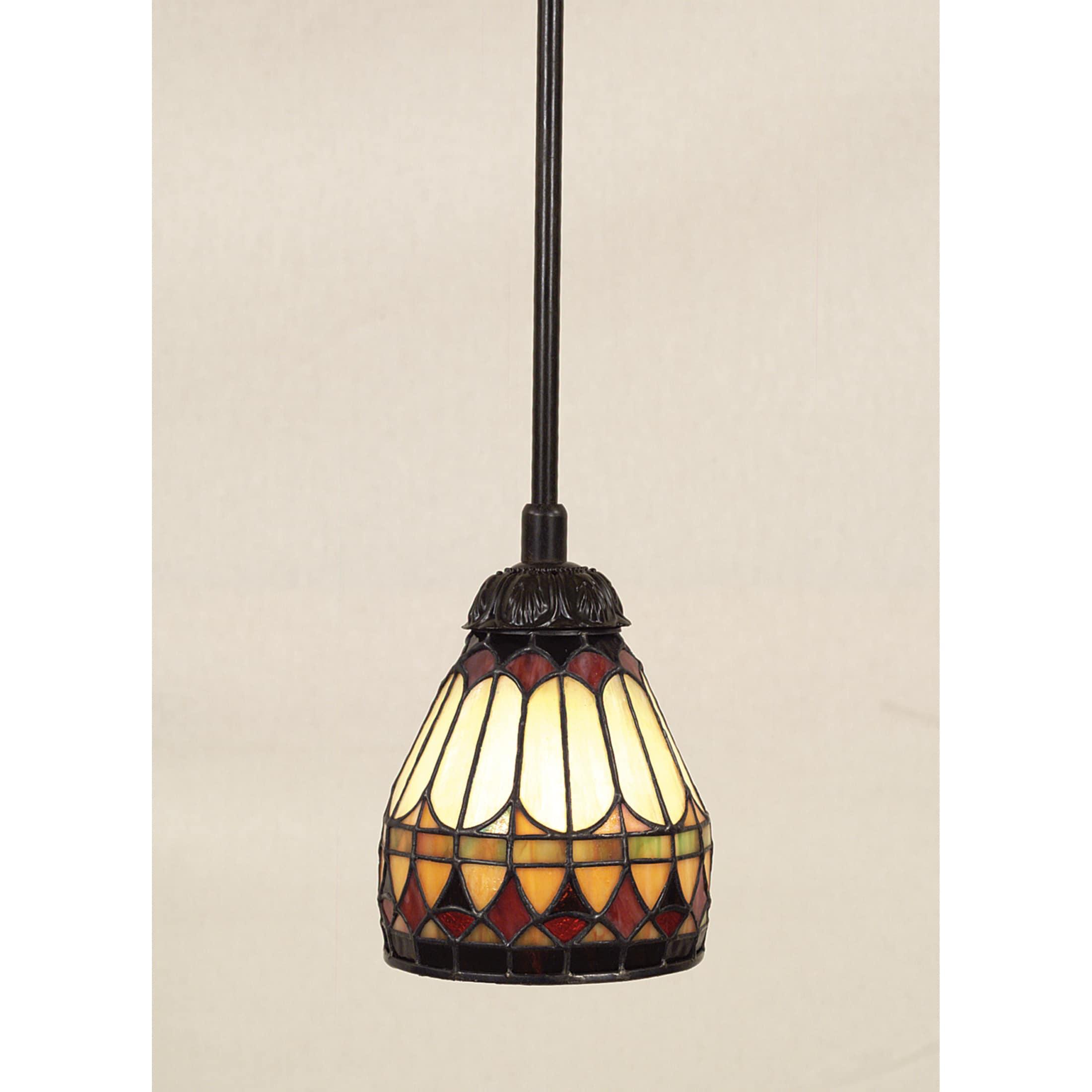 Shop Quoizel Tiffany-style 1-light Vintage Bronze Mini ...