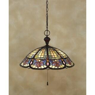 Tiffany 3-light Vintage Bronze 100-watt Pendant