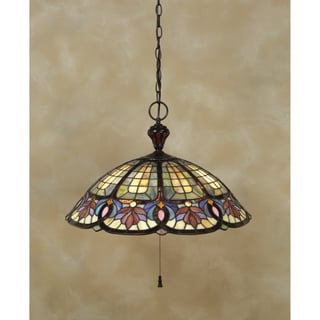 Quoizel Tiffany-style 3-light Vintage Bronze 100-watt Pendant
