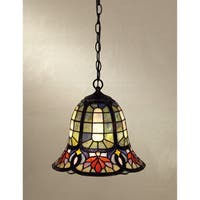 Quoizel Tiffany-style 1-light Vintage Bronze Mini Pendant