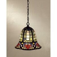 Quoizel Tiffany Style 1 Light Vintage Bronze Mini Pendant
