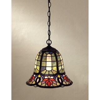 Quoizel Tiffany-style 1-light Vintage Bronze Mini Pendant