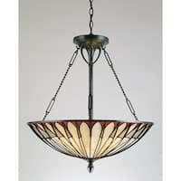 Quoizel Tiffany-style 4-light Vintage Bronze Pendant