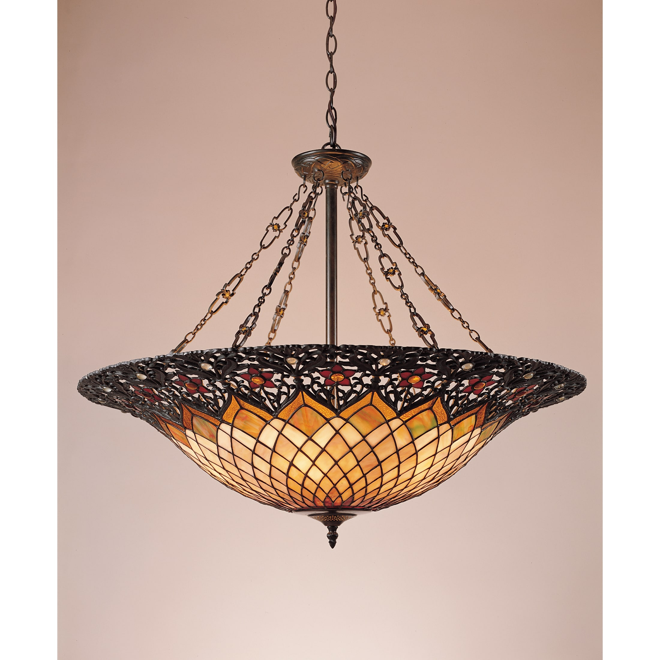 Shop Black Friday Deals On Copper Grove Primorsko Quoizel Tiffany Style 6 Light Vintage Bronze Pendant 6 Bronze 6 Overstock 8463666