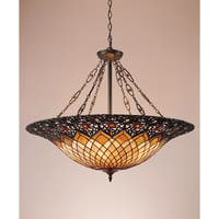 Quoizel Tiffany-style 6-light Vintage Bronze Pendant